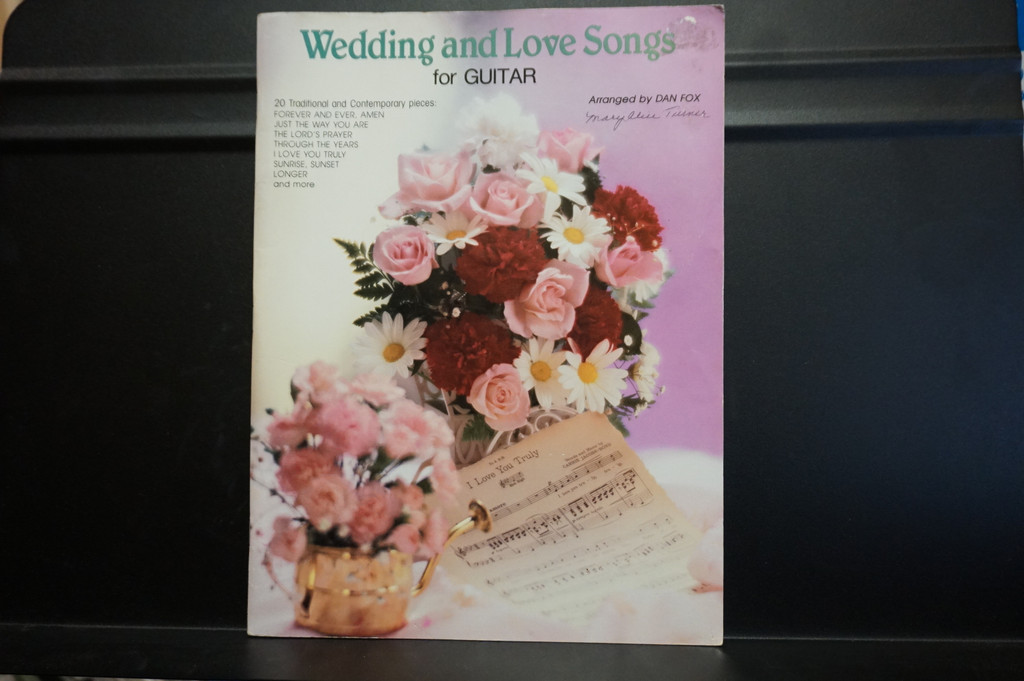 Used Vintage Book- Wedding and Love Songs for Guitar