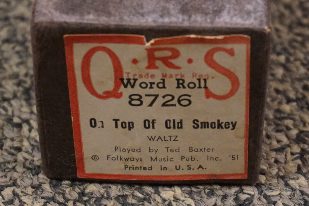 Vintage Piano Roll, On Top Of Old Smoky