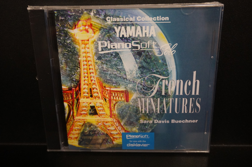 Yamaha Disklavier Piano Soft Solo French Miniatures 3.5 inch floppy disk