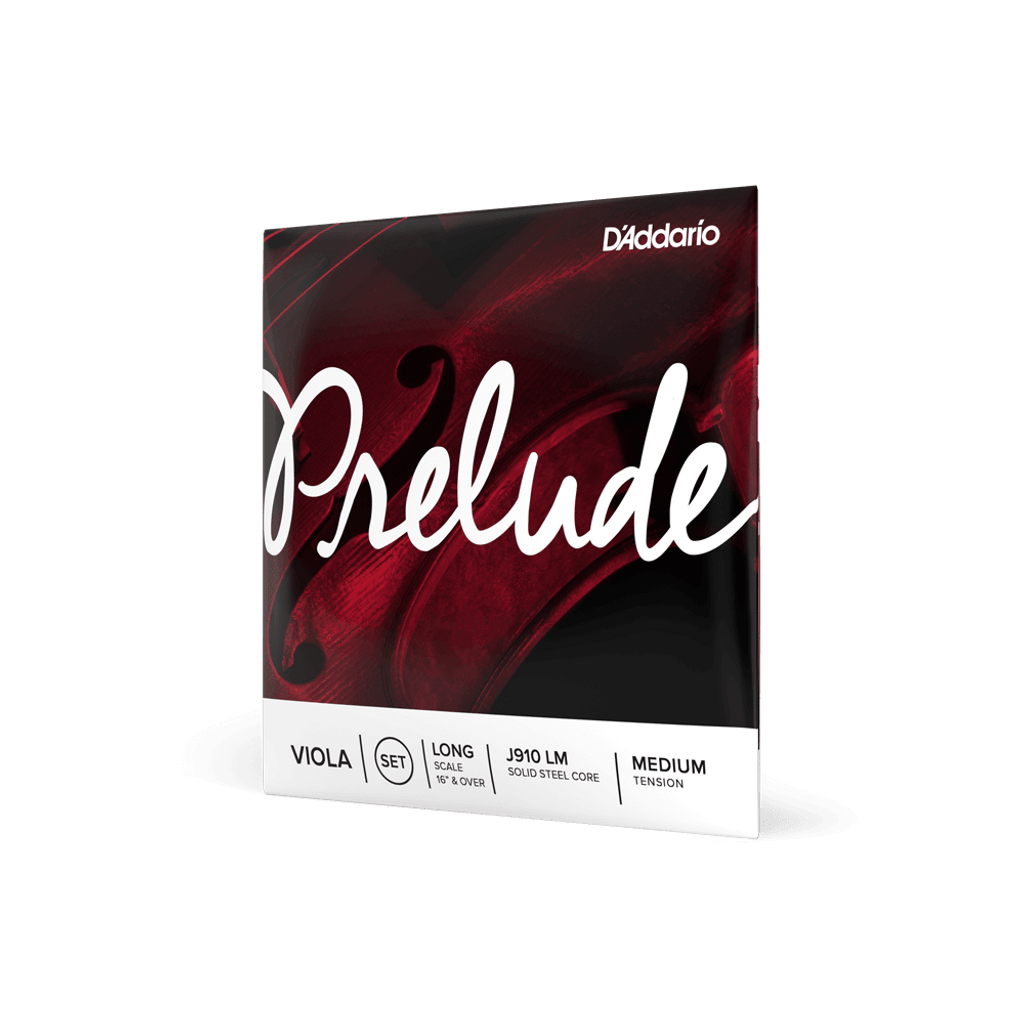 D'Addario Prelude Viola String Set Long Scale Length Medium Tension