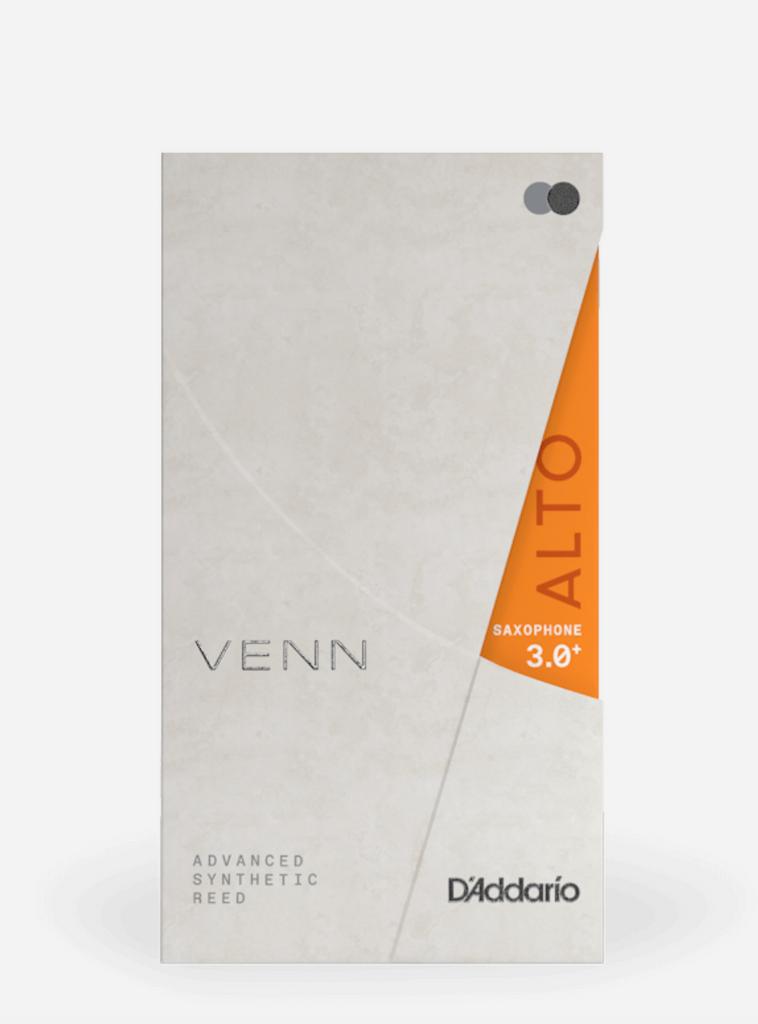 D'Addario Venn Synthetic Alto Saxophone Reed, 3.0+