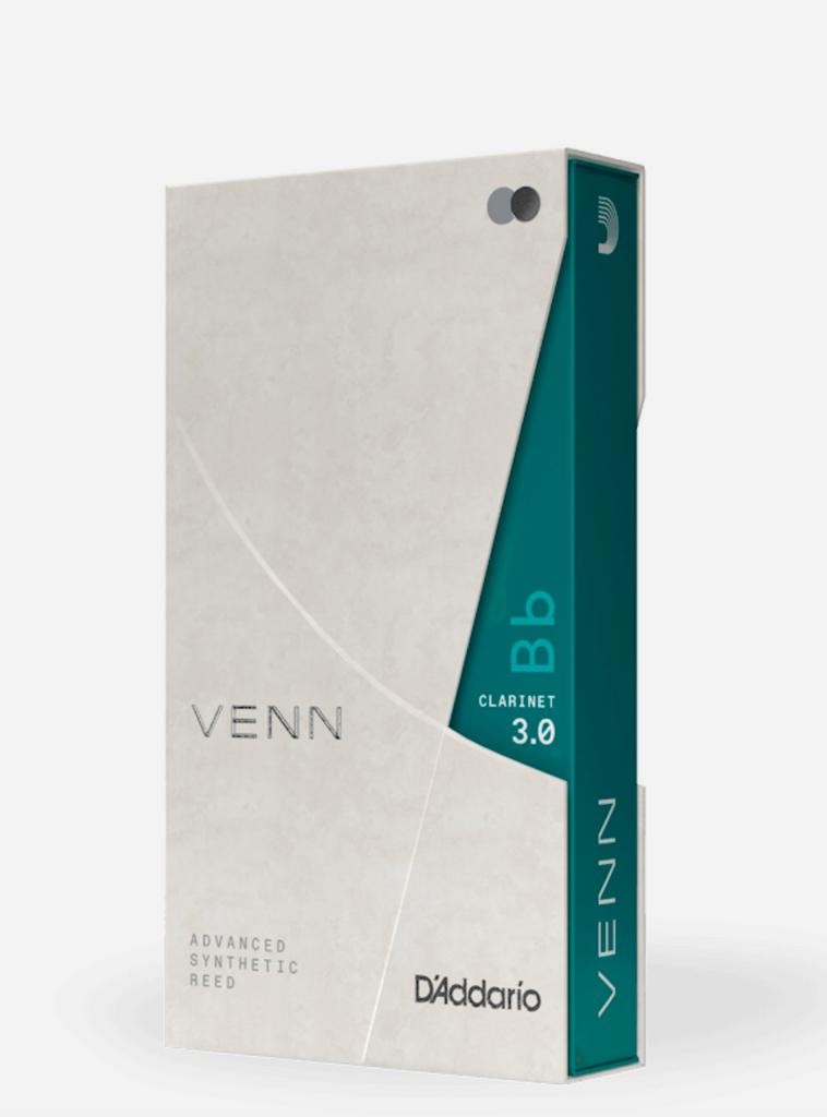 D'Addario Venn Synthetic Bb Clarinet Reeds, 3.0