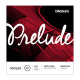 D'Addario Prelude Violin String Set, 4/4 Scale, Medium Tension