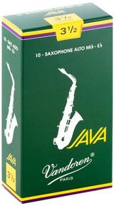Vandoren Java Alto Saxophone Reeds, Strength 3.5, 10 Pack