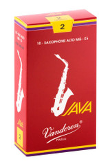 Vandoren Java Red Alto Saxophone Reeds, Strength 3, 10 Pack