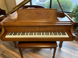 "Steinway ""L"" Walnut Satin Grand Piano with (2x) Benches"