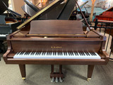 "Kawai GL-30 Dark Walnut Satin 5'5"" Classic Grand Piano with Bench"