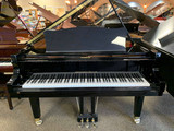 "Johannes Seiler 5'9"" Ebony Polish Traditional Grand Piano with Bench"