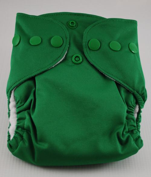 BubbyBums Green AIO Newborn Diaper