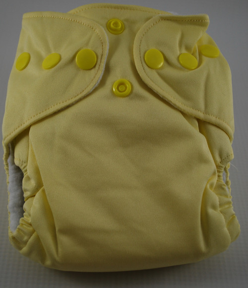 BubbyBums Pale Yellow AIO Newborn Diaper