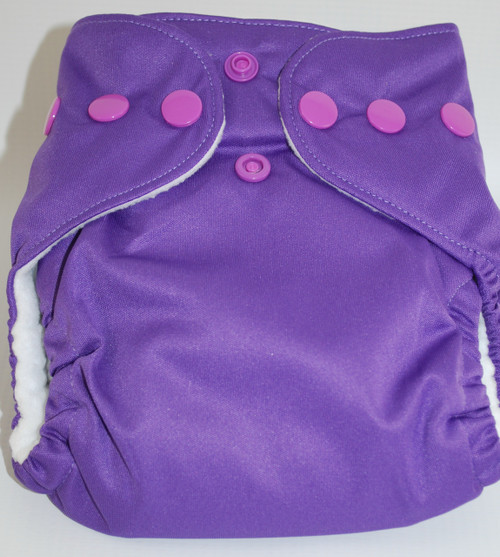 BubbyBums Purple All in One Newborn Diaper