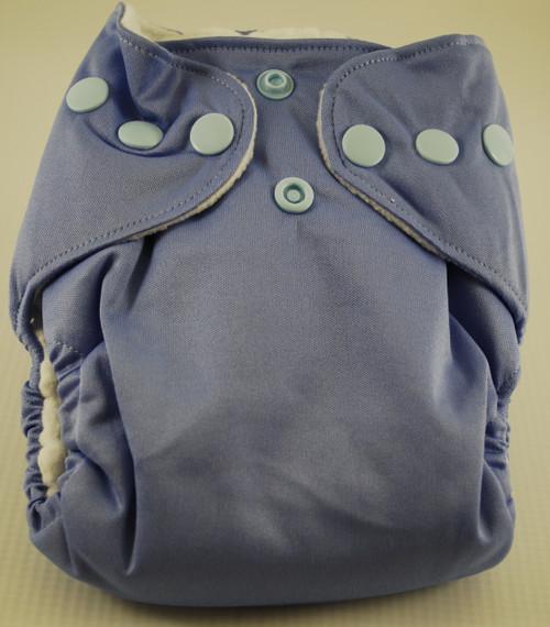 BubbyBums Pastel Blue Newborn AIO DIaper