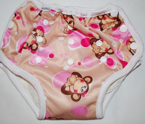 Monkey & Pink Dots Multi Size Waterproof Training Pants