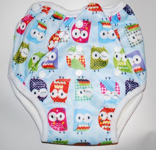 Owls on Blue Multi Size Waterproof Training Pants