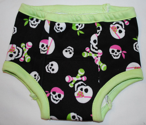 Skulls and Rattles Size 2T Cotton Training Pants
