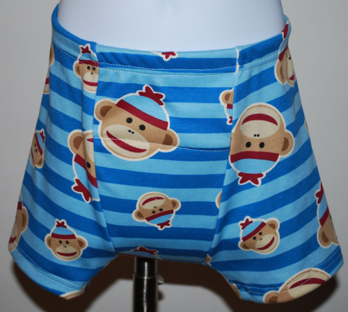 Sock Monkey Boxer Style Training Pants Size 18 Months