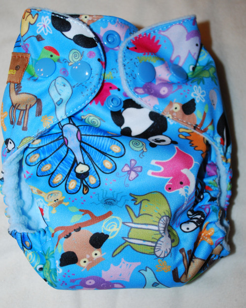 Animal Doodles AIO Newborn Diaper