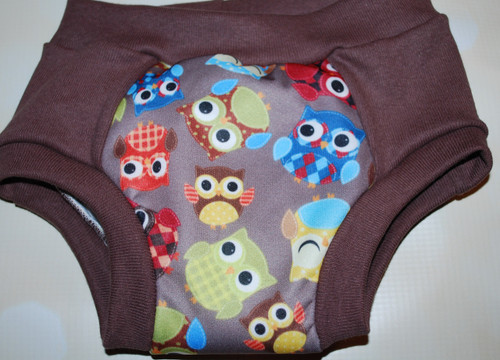 Nutmeg Owls Partially Waterproof Training Pants Size Small (18m)