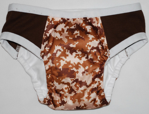 Brown Digital Camouflage Partially Waterproof Training Pants 4T/L