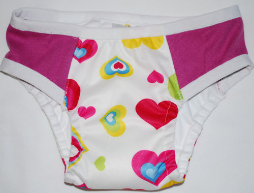 Hearts/Fuchsia Partially Waterproof Training Pants 3T/M