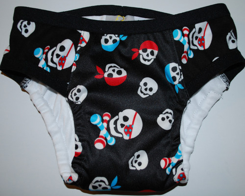 Boy Skulls & Rattles Partially Waterproof Training Pants 3T/M