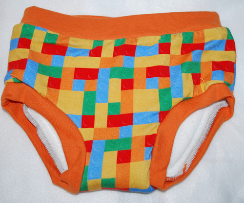 Blocks/Orange Small Cloth Training Pants