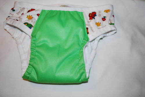 Green/Cars Partially Waterproof Training Pants 2T