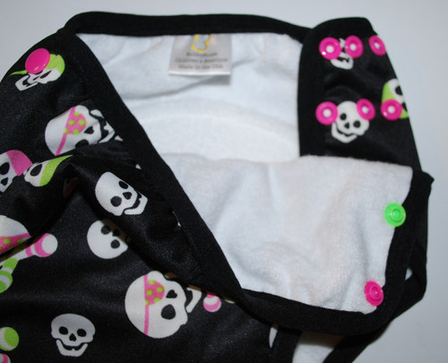 Pink/Green Skulls and Rattles Multi Size Waterproof Training Pants