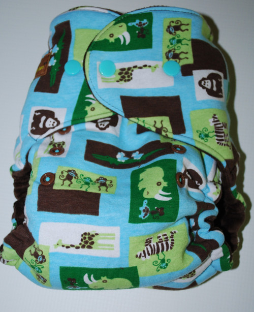 Blue Zoo One Size Hybrid Fitted Diaper