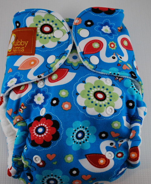 Swans One Size Hybrid Fitted Diaper
