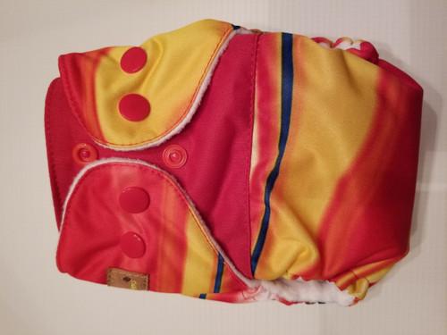 Marble/Red AIO Newborn Diaper
