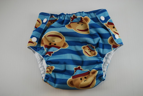 Sock Monkey Flannel Lined Waterproof Training Pants