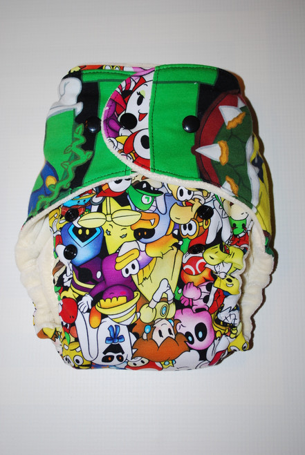 Luigi Hybrid Fitted One Size Diaper