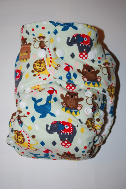 Circus Hybrid Fitted One Size Diaper