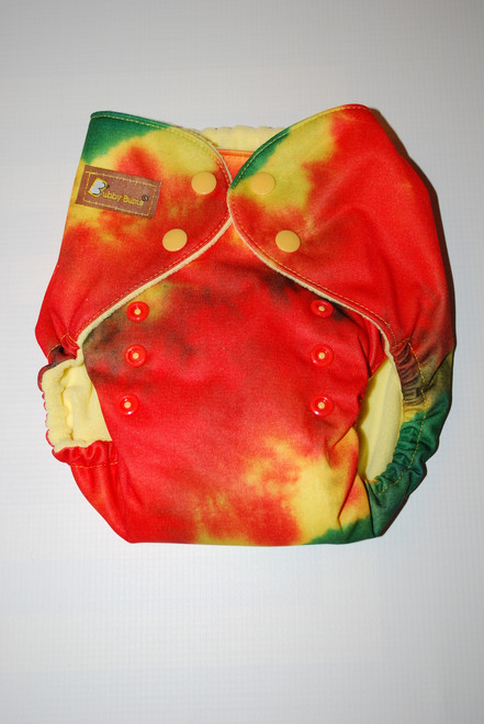 Tie Dye Look One Size AIO Diaper