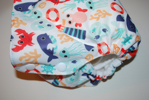 Ocean Friends Side Snap One Size Diaper