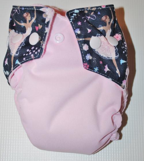 Ballet Pink  AIO Newborn Diaper (seconds)