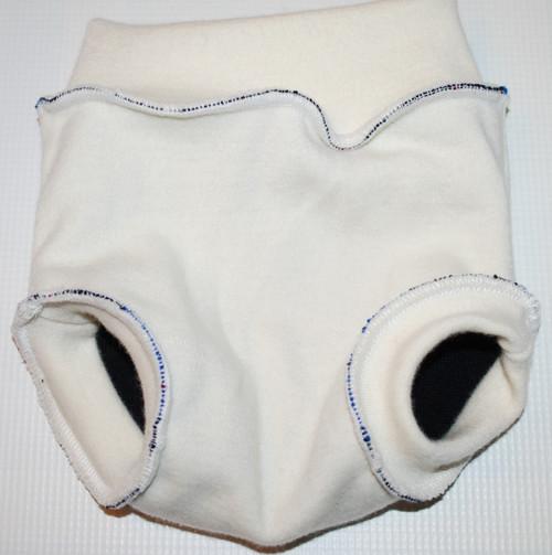 Small Argyle/Black Merino Wool Diaper Cover