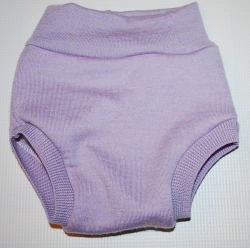 Small Lilac Merino Wool Diaper Cover