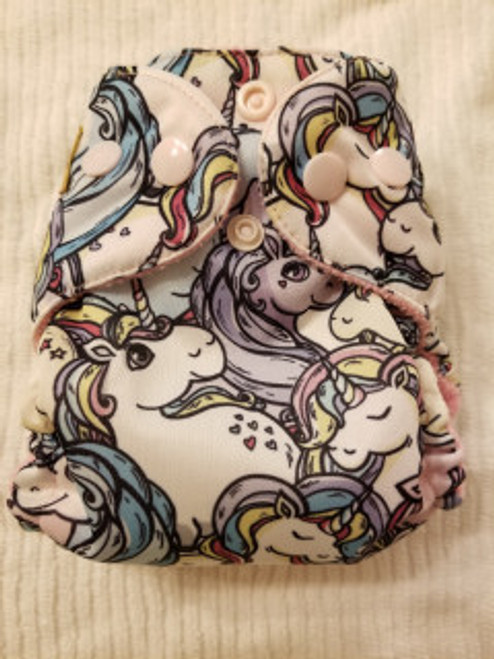 Unicorns  AIO Newborn Diaper