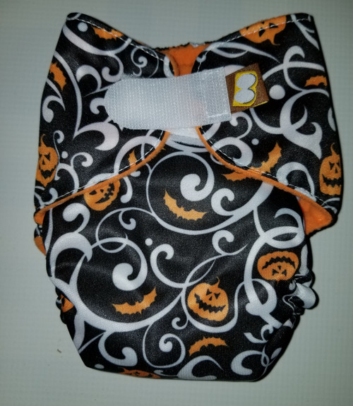 Halloween Hook & Loop AIO Newborn Diaper