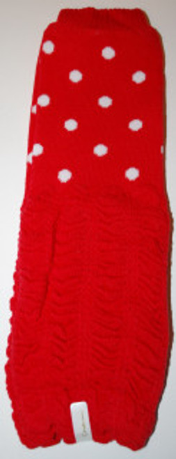 Red Tiny Polka Dots Ruched Baby Leg Warmers