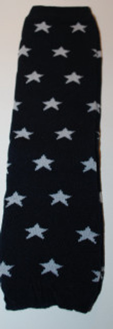 Navy with Stars Baby Leg Warmers