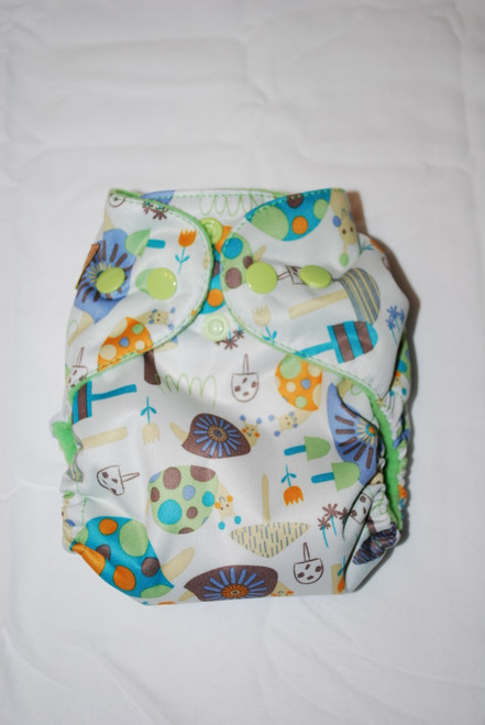BubbyBums Snails AIO Newborn Diaper