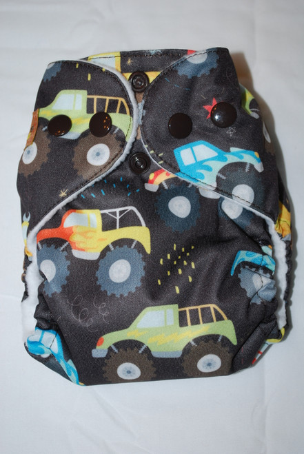 Monster Trucks AIO Newborn Diaper