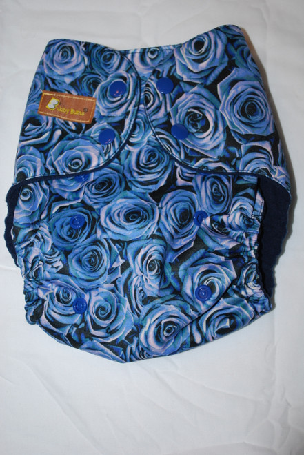 Blue Roses  All In Two Diaper