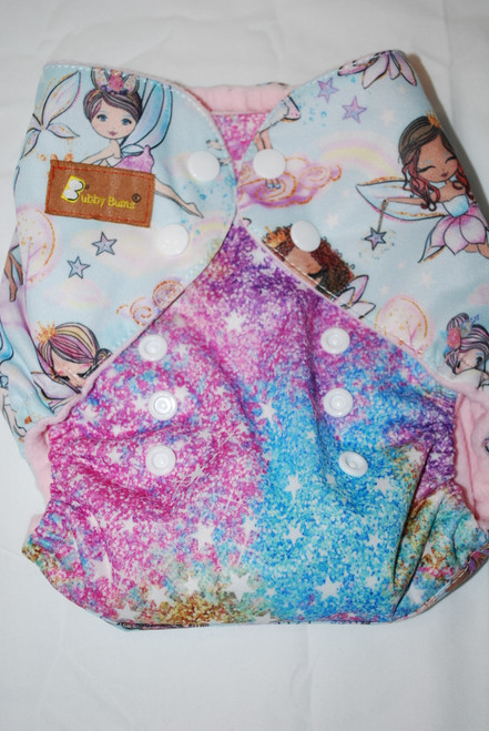 Pixie Dust & Fairies One Size AIO Diaper