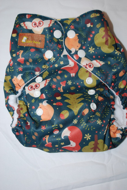 Fox and Owl One Size AIO Diaper