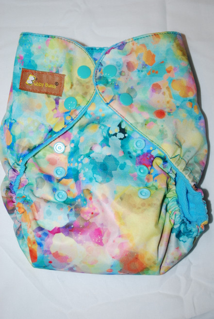Watercolor Haze One Size AIO+ Diaper