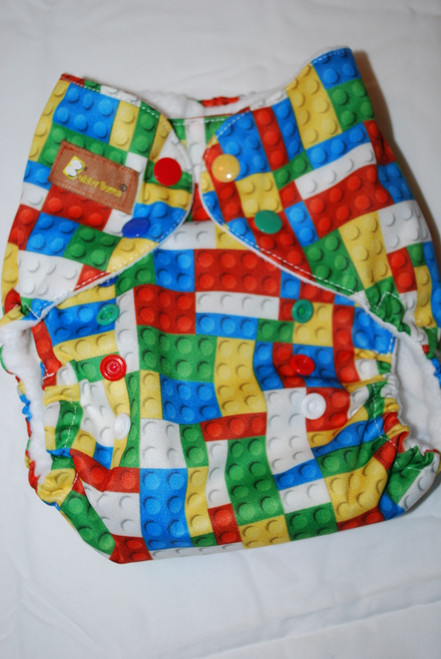 Primary Color Toy Blocks One Size AIO+ Diaper